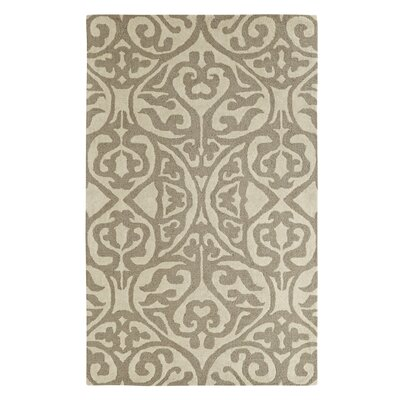 Palace Silver/Ivory Area Rug Rug Size: 4 x 6