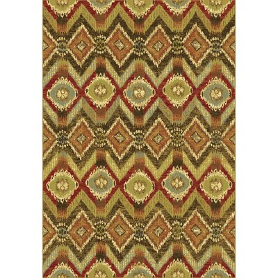 Heritage Ikat Area Rug Rug Size: Rectangle 53 x 77