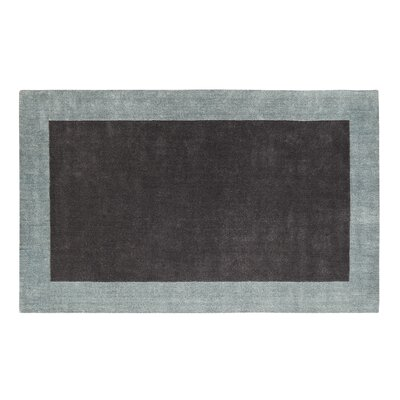 Manhattan Charcoal Solid Bordered Area Rug Rug Size: 4 x 6