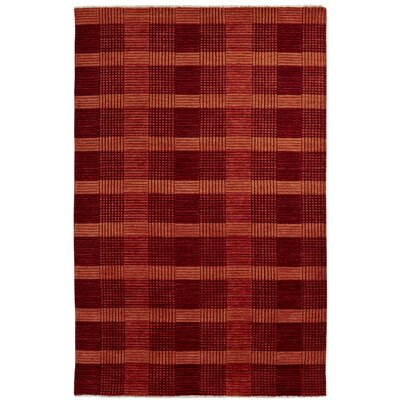 Lounge Red Area Rug Rug Size: 4 x 6