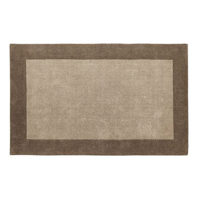 Manhattan Taupe Solid Bordered Area Rug Rug Size: 5 x 8