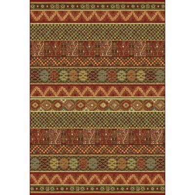 Heritage Geometric Area Rug Rug Size: Rectangle 53 x 77