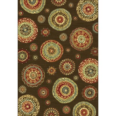 Heritage Brown/Tan Geometric Area Rug Rug Size: Rectangle 67 x 96