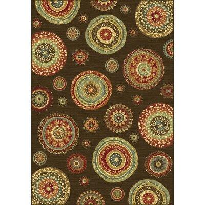 Heritage Brown/Tan Geometric Area Rug Rug Size: Rectangle 36 x 56
