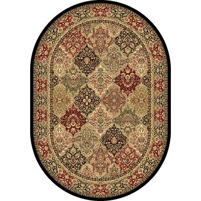 Ancient Garden Oriental Multi Area Rug Rug Size: Oval 53 x 77