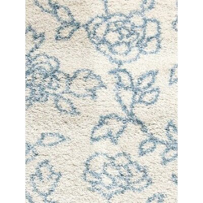Passion Cream Floral Rug Rug Size: Rectangle 53 x 77