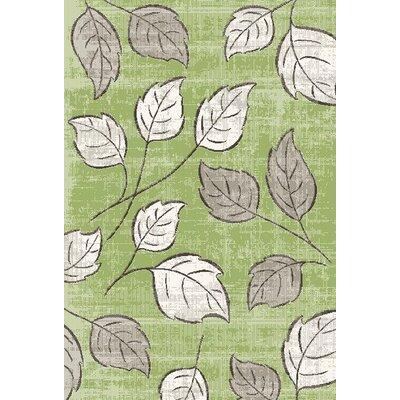 Infinity Green Plants Area Rug Rug Size: 311 x 57