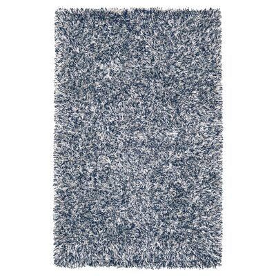 Romance Ivory/Blue Solid Area Rug Rug Size: Rectangle 5 x 8