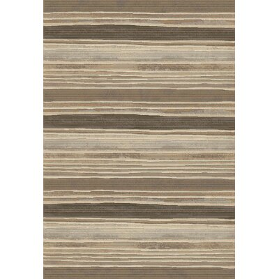 Eclipse Brown Striped Area Rug