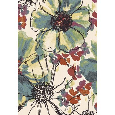 Infinity Floral Area Rug Rug Size: Rectangle 67 x 96