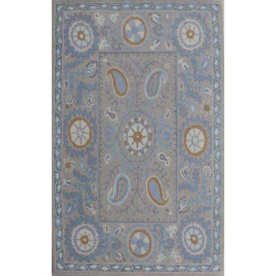 Sapphire Grey Area Rug Rug Size: 36 x 56