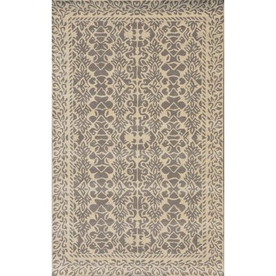 Sapphire Ivory & Grey Oriental Area Rug Rug Size: 5 x 8