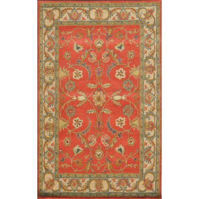 Sapphire Rust / Ivory Oriental Area Rug Rug Size: 36 x 56