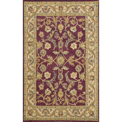 Sapphire Burgundy / Ivory Oriental Area Rug Rug Size: 5 x 8