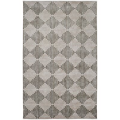Celeste Ivory / Silver Geometric Rug Rug Size: Rectangle 2 x 4