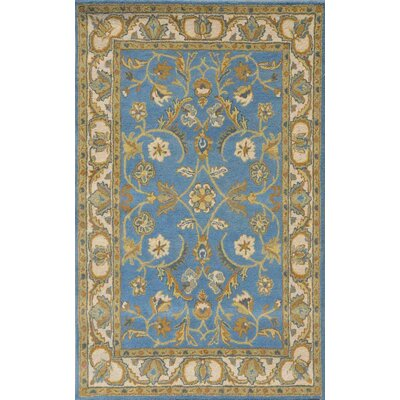 Sapphire Blue / Ivory Oriental Area Rug Rug Size: 8 x 11