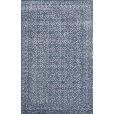 Sapphire Dark Grey Floral Area Rug Rug Size: 36 x 56