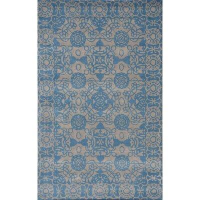 Sapphire Lt. Grey / Blue Area Rug Rug Size: 36 x 56