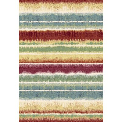 Infinity Striped Area Rug Rug Size: 53 x 77