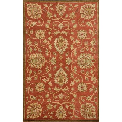 Sapphire Copper Floral Area Rug Rug Size: 2 x 4