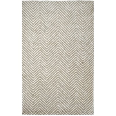 Celeste Ivory / Silver Chervon Area Rug Rug Size: Rectangle 2 x 4