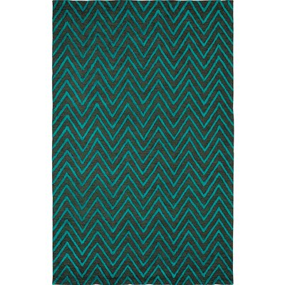 Broadway Jade Chervon Area Rug Rug Size: Rectangle 5 x 8