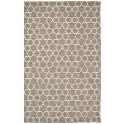 Broadway Grey Geometric Area Rug Rug Size: 36 x 56