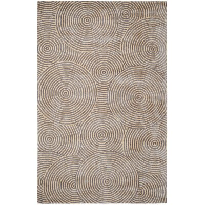Celeste Silver / Beige Geometric Rug Rug Size: Rectangle 5 x 8