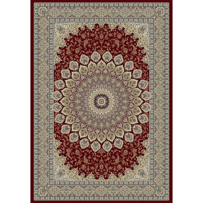 Ancient Garden Oriental Red Area Rug Rug Size: Rectangle 53 x 77