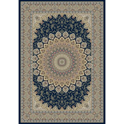 Dynamic Rugs Ancient Garden Persian Navy Area Rug - Rug Size: Round 5'3