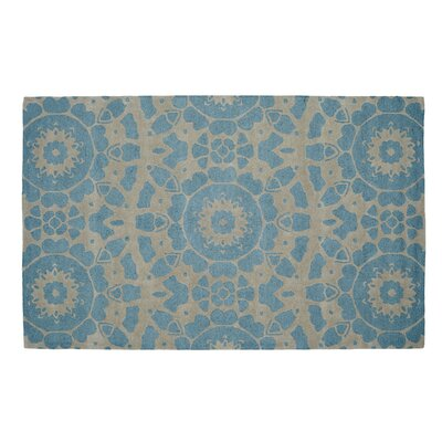 Palace Silver/Turquoise Area Rug Rug Size: 5 x 8