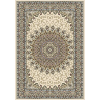 Attell Persian Ivory Indoor/Outdoor Area Rug Rug Size: 53 x 77