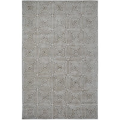 Celeste Ivory / Grey Geometric Rug Rug Size: 2 x 4