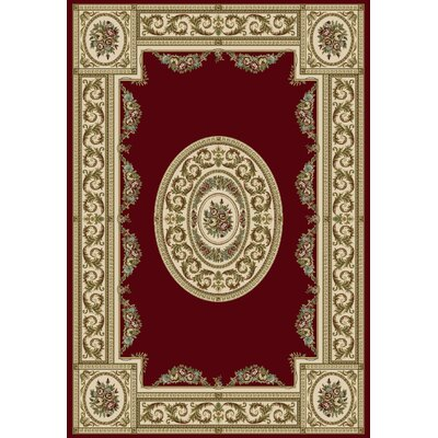 Ancient Garden Persian Red / Ivory Area Rug Rug Size: 311 x 57