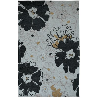 Element Black/Grey Floral Area Rug Rug Size: 5 x 8