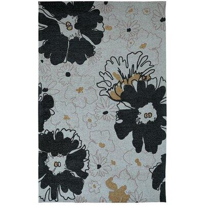 Element Black/Grey Floral Area Rug Rug Size: 8 x 11