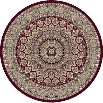 Ancient Garden Oriental Red Area Rug Rug Size: Round 53