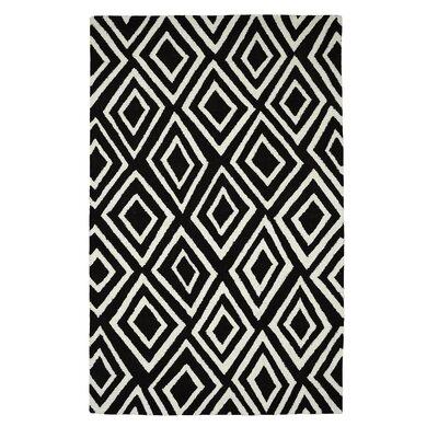 Palace Charcoal/Ivory Geometric Area Rug Rug Size: 4 x 6