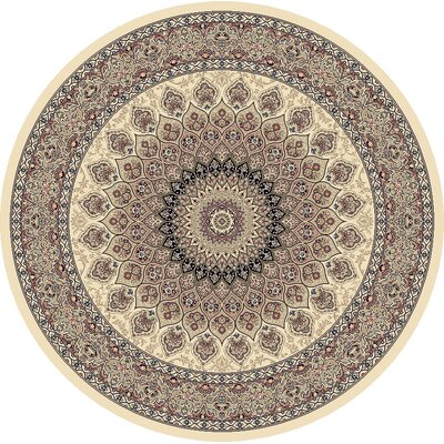 Attell Persian Ivory Indoor/Outdoor Area Rug Rug Size: Round 53