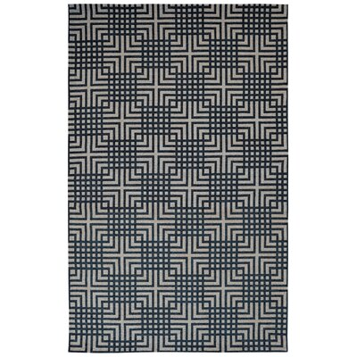Element Blue Geometric Area Rug Rug Size: 8 x 11