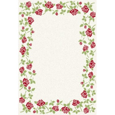 Infinity Cream Floral Area Rug Rug Size: 311 x 57