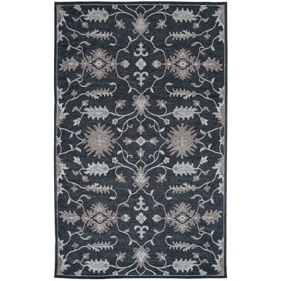 Element Black Area Rug Rug Size: 5 x 8