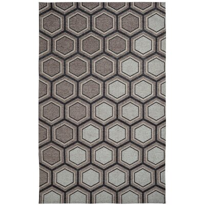 Element Grey/White Geometric Area Rug Rug Size: 8 x 11