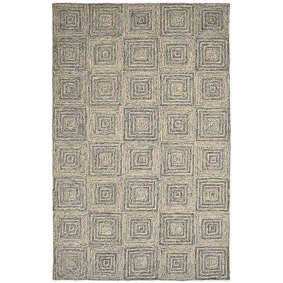 Polar Ivory / Grey Geometric Area Rug Rug Size: 2 x 4