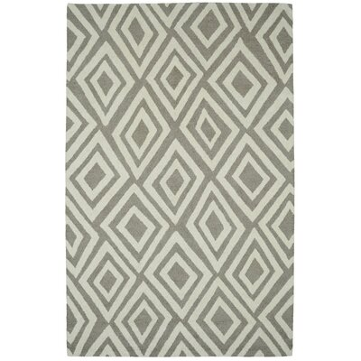 Palace Silver/Ivory Area Rug Rug Size: 2 x 4