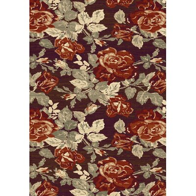 Opus Red Floral Area Rug Rug Size: 710 x 1010