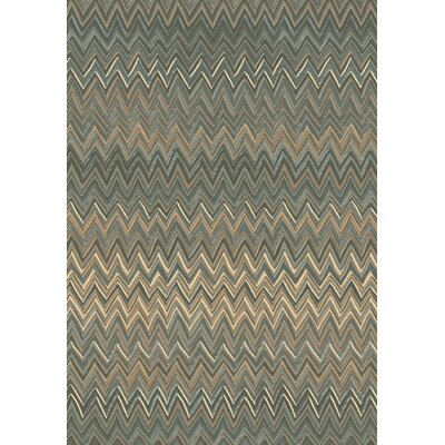 Opus Grey/Beige Chervon Area Rug Rug Size: 710 x 1010