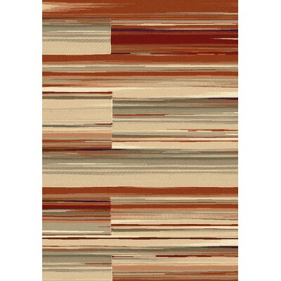 Opus Red Area Rug Rug Size: 53 x 77