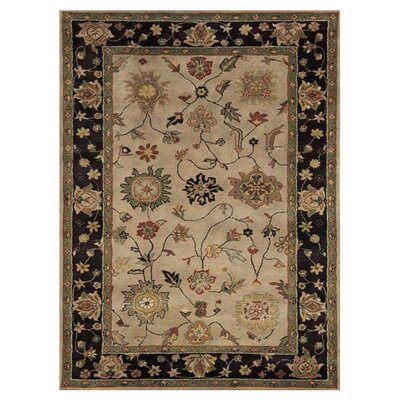 Charisma Moravia Ivory / Eggplant Area Rug Rug Size: Rectangle 67 x 96