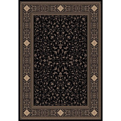 Ancient Garden 6563 Black Oriental Rug Rug Size: Rectangle 92 x 1210